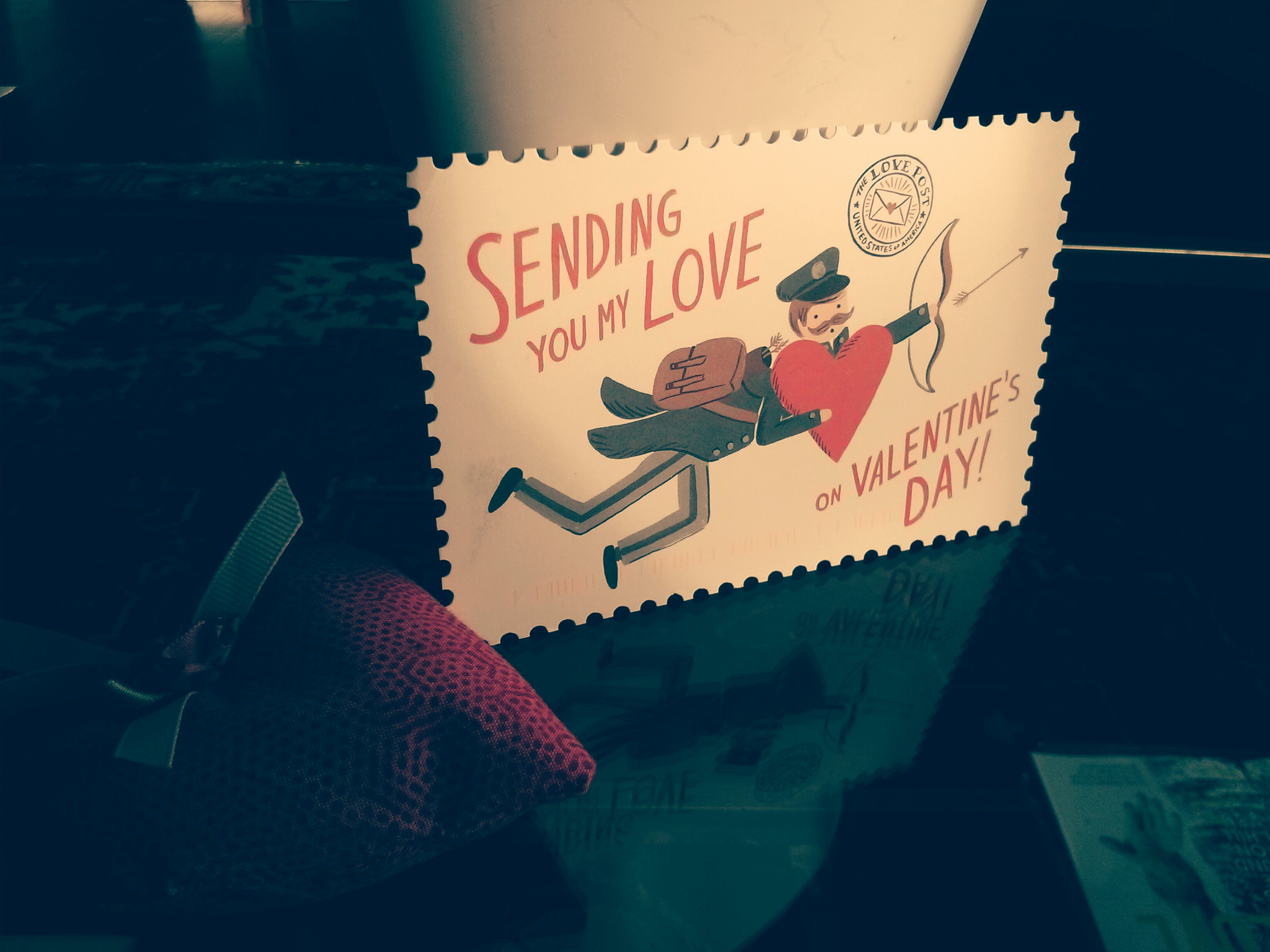 A Valentine's Day postcard from my friend